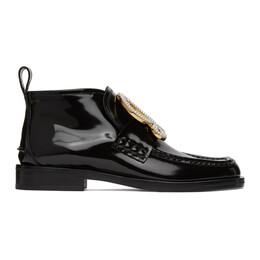 Loewe Black Patent Calfskin High-Top Loafers L814290X07