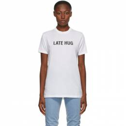 Helmut Lang SSENSE Exclusive White Late Hug T-Shirt K06DM529