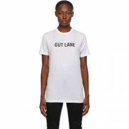 Helmut Lang SSENSE Exclusive White Gut Lane T-Shirt K06DM528