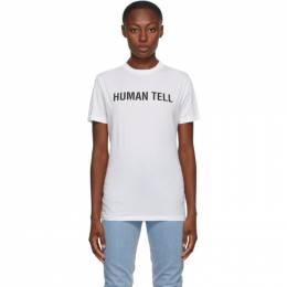 Helmut Lang SSENSE Exclusive White Human Tell T-Shirt K06DM526