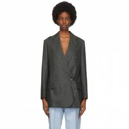 Stella McCartney Grey Wool Rylee Blazer 602194SNB53