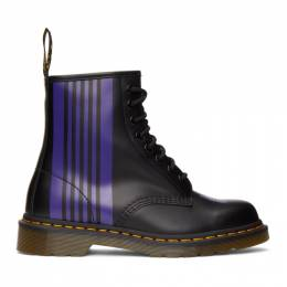 Needles Black Dr. Martens Edition 1460 Boots 26258011