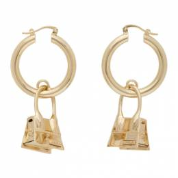 Jacquemus Gold Les Creoles Chiquito Earrings 203JW02-203 500200