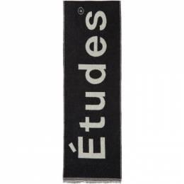 Etudes Black Supporter Scarf E15B-802-01