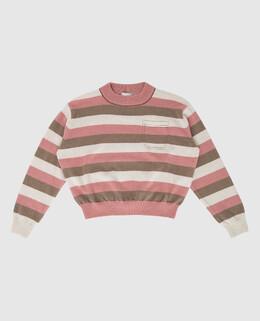 Детский свитер из шерсти, кашемира и шелка Brunello Cucinelli 2300006359996