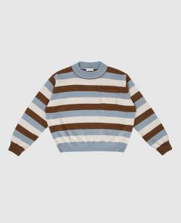 Детский свитер из шерсти, кашемира и шелка Brunello Cucinelli 2300006359989