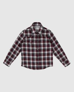 Детская бордовая рубашка Brunello Cucinelli 2300006360343