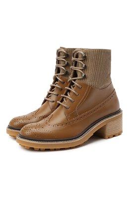 Кожаные ботинки Chloe CHC20W379P3