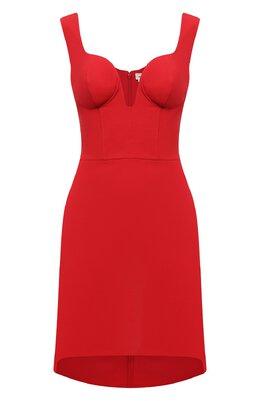 Платье из шерсти и шелка Alexander McQueen 640032/QJAAA