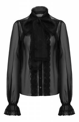 Шелковая блузка Dolce&Gabbana J5AAJT/FU1BU