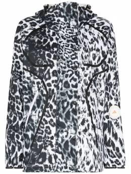 Adidas by Stella McCartney ветровка с леопардовым принтом FU0296