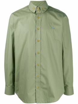 Vivienne Westwood cotton shirt with orb embroidery 2401002111622