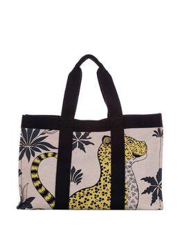 Hermes pre-owned leopard print tote bag 0HHETO037