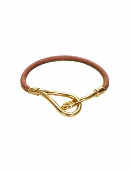 Hermes pre-owned hook leather bracelet 0CHECB009