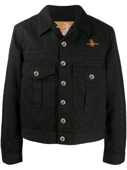 Vivienne Westwood Orb-embroidered herringbone jacket 39010006116576N401