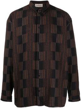 Tom Wood geometric-jacquard long sleeved shirt 20408544