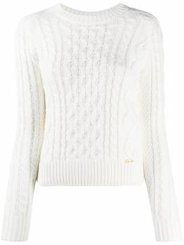 Elisabetta Franchi cable-knit fitted jumper MK93B07E2