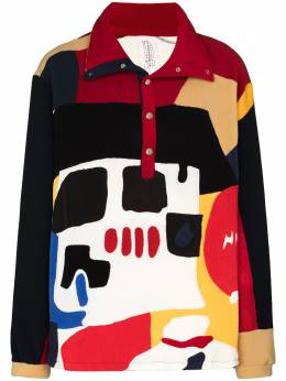 Bethany Williams patchwork pattern print polo jumper bwaw20026