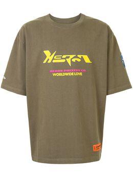 Heron Preston футболка с графичным принтом HMAA019F20JER0025516