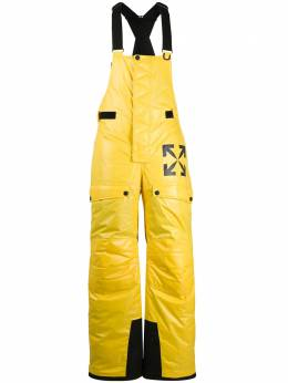 Off-White PUFFER SKI PANT YELLOW BLACK OMKF014F20FAB0011810