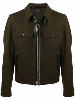 Tom Ford fitted zip-up jacket TFO304PV079