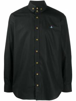 Vivienne Westwood orb-embroidered long sleeved shirt 2401002111622