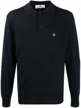 Vivienne Westwood orb embroidered polo shirt 840825117506799