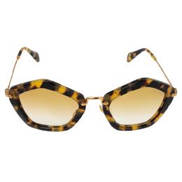 Miu Miu Yellow Havana/ Yellow Gradient SMU06O Geometric Sunglasses 341042