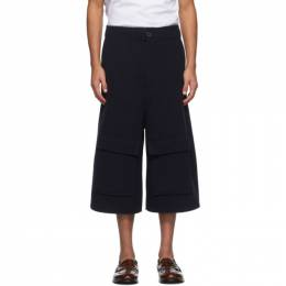 Loewe Navy Wool and Cashmere Shorts H526331X65