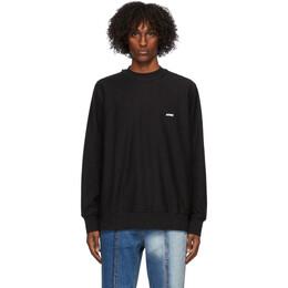 Ader Error Black Logo Long Sleeve T-Shirt BTAFWSW07BK