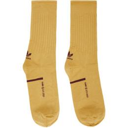 Oamc Yellow and Brown Adidas Originals Edition Type O Socks GJ0694
