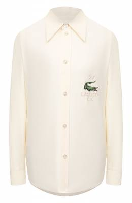 Шелковая рубашка Lacoste CF3222