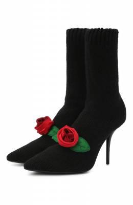 Текстильные ботильоны Cardinale Dolce&Gabbana CT0728/A8M54
