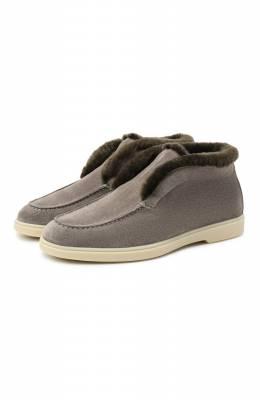 Замшевые ботинки Santoni WUYA58457TISAPFCG55