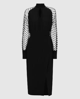 Черное платье из шелка Balmain 2300005648824