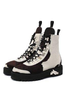 Кожаные ботинки Off-White 0WID001F20LEA0010160