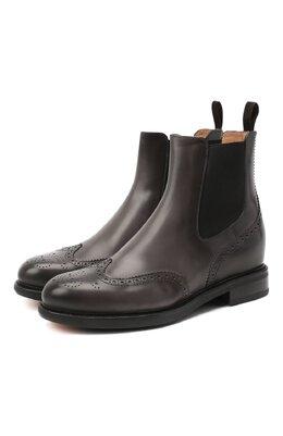Кожаные ботинки Santoni WTWK58153SMCDLESG23