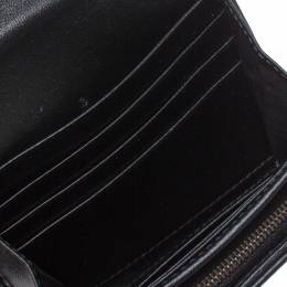 Gucci Black Matelasse Leather GG Marmont Card Case 349457