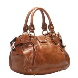 Miu Miu Brown Leather Bow Bag 347847