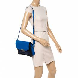 Marc By Marc Jacobs Blue/Black Leather Lip Lock Shoulder Bag 349603