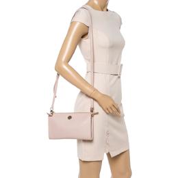 Tory Burch Nude Leather Robinson Clutch Bag 349480