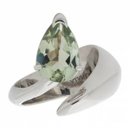 Alan Crocetti Silver and Green Amethyst Alien Ring AC.CO.ALNR.GN.RH.034