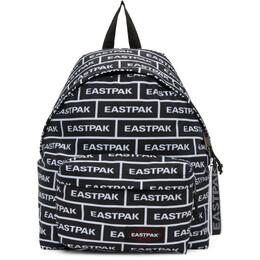 Eastpak Black and White Branded Padded Pakr Backpack EK000620C89