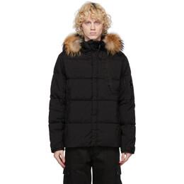 C.P. Company Black Down Fur Taylon Jacket 09CMOW212A-005782G