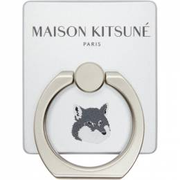 Maison Kitsune Silver Fox iRing Phone Ring CU05701AM1003