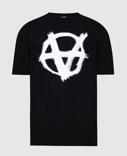 Черная футболка Vetements 2300006382444