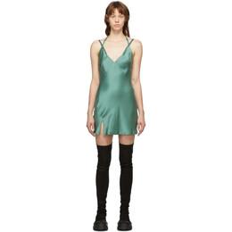 Haider Ackermann Green Dali Camisole Dress 204-2209-125-040