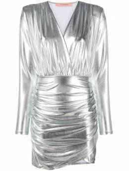 Andamane платье мини с эффектом металлик и сборками L02A5881202