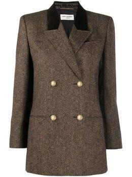 Saint Laurent двубортный пиджак 638616Y8B22