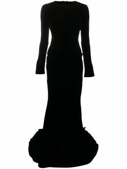 Haider Ackermann бархатное платье с длинными рукавами 2042212188